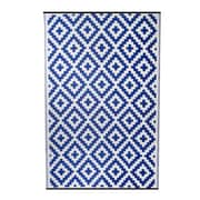 Fox Hill Trading Premiere Home Hand-Woven Blue Indoor/Outdoor Area Rug