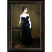 La Pastiche Portrait of Madame X by John Singer Sargent Framed Painting Print