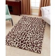 Abbyson Living Charlotte Hand-Tufted Maroon Brown Area Rug; 5' x 8'