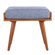 Porthos Home Aurora Upholstered Entryway Bench; Blue
