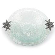 Mud Pie  Natural Beauties Starfish Handle Textured Glass Salad Bowl