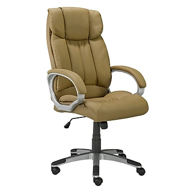 Brassex 2955-TP Office Chair with Gas Lift and Tilt Mechanism, Taupe, 26