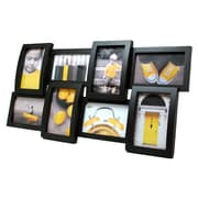 "AZ Home & Gifts Curve Black Wall Collage, 12.5""x23"" for 8-4x6"" Photos"