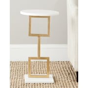 Safavieh Cassidy End Table; Gold /  White