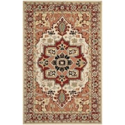 Safavieh Chelsea Red / Ivory Outdoor Area Rug; 7'9'' x 9'9''