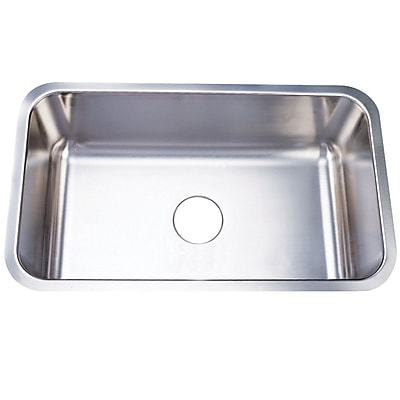 Kingston Brass Boston 30.13'' x 17.88'' Gourmetier Single Bowl Undermount Kitchen Sink WYF078276410901