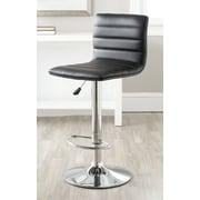 Safavieh Arissa Adjustable Height Swivel Bar Stool with Cushion; Black