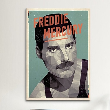 iCanvas American Flat Freddie Mercury Graphic Art on Wrapped Canvas; 26'' H x 18'' W x 0.75'' D