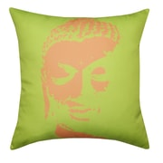Divine Designs Buddha Face Indoor/Outdoor Throw Pillow; Lime