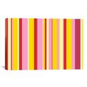 iCanvas Striped Art Fruity Ice Cream Dessert Graphic Art on Canvas; 26'' H x 40'' W x 1.5'' D