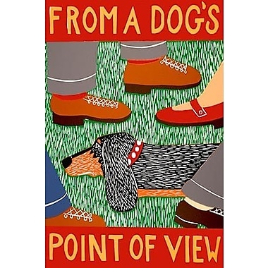 iCanvas From a Dog's Point of View by Stephen Huneck Painting Print on Wrapped Canvas