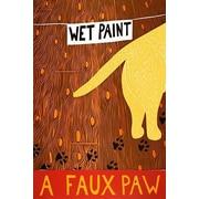 iCanvas Stephen Huneck A Faux Paw Yellow Canvas Print Wall Art; 26'' H x 18'' W x 0.75'' D