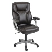Barcalounger High-Back Leather Executive Office Chair with Arms; Chocolate