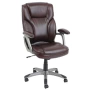 Barcalounger High-Back Leather Executive Office Chair with Arms; Burgundy