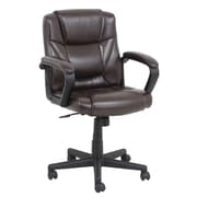Barcalounger Mid-Back Leather Conference Chair with Arms