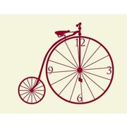 Style and Apply Bicycle Wall Clock Wall Decal; Gold