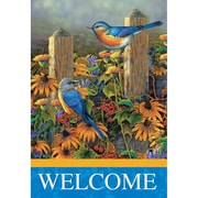 Jozie B Blue Birds 2-Sided Garden Flag; 18'' H x 13'' W