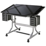 Alvin and Co. Craft Master II Deluxe Art & Drawing Glass Top Table