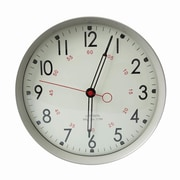 AdecoTrading 11.9'' Round Large Numbers and Large Hands Wall Hanging School Clock; Gray