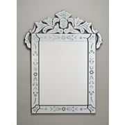 Afina Radiance 26'' X 36'' Rectangle Traditional Cut Glass and Etched Mirror