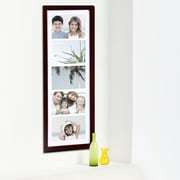 AdecoTrading 5 Opening Decorative Wall Hanging Picture Frame; Walnut