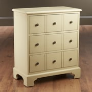 AA Importing 3 Drawer Chest; Tan