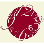 Style and Apply Big Wall Clock Wall Decal; Dark Red