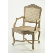 AA Importing Cane Arm Chair; Pickled
