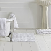 Better Trends Micro 3 Piece Bath Rug Set; White