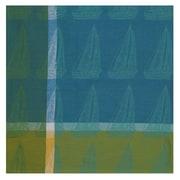 Traders and Company Sloop Citrus 100pct Cotton Sailboats Tablecloth