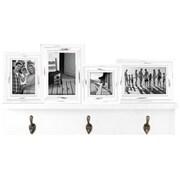 Malden Shelf W/Hangers White Picture Frame