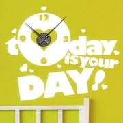 Style and Apply Today is your Day Wall Clock Wall Decal; Gold