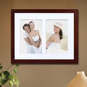 AdecoTrading 2 Opening Decorative Wall Hanging Picture Frame; Walnut