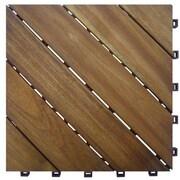 A&B Home Group, Inc 12.6'' x 12.6'' Camp Diagonal Deck Tile