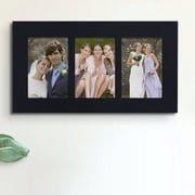 AdecoTrading 3 Opening Wall Hanging Picture Frame; Black