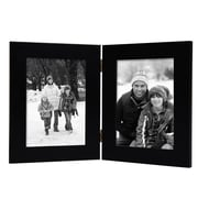 AdecoTrading 2 Opening Decorative Table Desk Top Picture Frame; Black