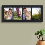 AdecoTrading 4 Opening Wall Hanging Picture Frame; Black