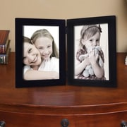 AdecoTrading 2 Opening Decorative Table Top Picture Frame; Black