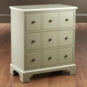 AA Importing 3 Drawer Chest; Gray / White