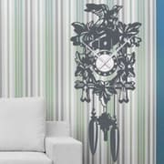 Style and Apply Cuckoo Wall Clock Wall Decal; Gold