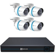 Ezviz Bn-1824a2 8-channel 1080p ip System With 2tb Hard Drive & 4 Weatherproof 1080p Poe Bullet ip Cameras