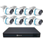 Ezviz Bn-1g28a3 16-channel 1080p ip System With 3tb Hard Drive & 8 Weatherproof 1080p Poe Bullet ip Cameras