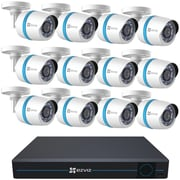 Ezviz Bn-1g2ca3 16-channel 1080p ip Security System With 3tb Hard Drive & 12 Weatherproof 1080p Poe Bullet ip Cameras