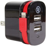 Chargeit 09913-pg Dual Output Wall Charger With Mfi Lightning Cable
