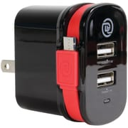 Chargeit 09914-pg Dual-output Wall Charger With Micro Usb Cable