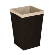 Honey Can Do Woven Strap Hamper with Liner, Black (HMP-06611)