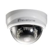 LevelOne® FCS-3101 2MP Wired Fixed Dome IP Network Camera, Motion Detection, White