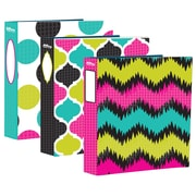 "Hilroy 1-1/2"" Fashion Binder, Electric Geo Pattern"