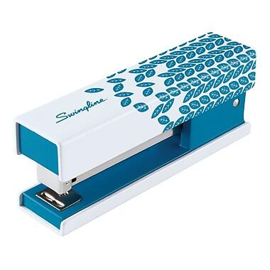 Swingline® Fashion Stapler, Blue Patterrn