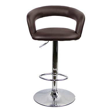 RetailPlus 3047 PU Barstool, Brown, 2/Pack